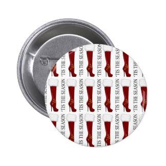 Tis' the Season Red Stiletto 2 Inch Round Button