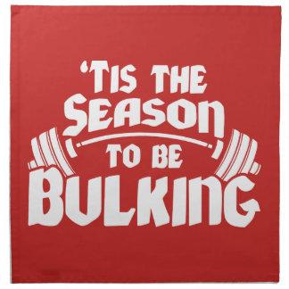 Tis The Season To Be Bulking - Funny Christmas Napkin
