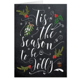 tis the season to be jolly christmas holiday card