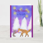 'Tis the Season to be jolly! The Fox and the Hare. Christmas Card