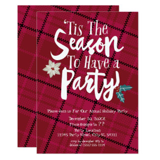 Tis The Season to Have a Party Holiday Invitations