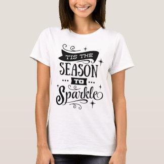 TIS THE SEASON TO SPARKLE Holiday Script Modern T-Shirt