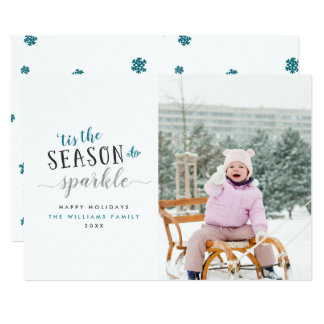'Tis the Season to Sparkle Photo Christmas Cards