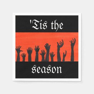'Tis The Season Zombie Napkin