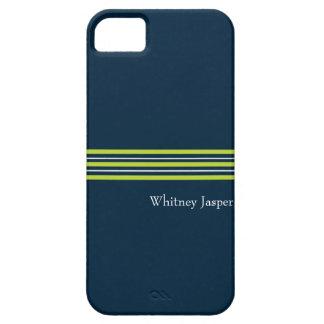 Tisbury - Navy Green White - iPhone 5 Case