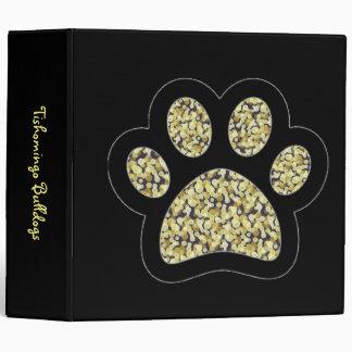 Tishomingo Bulldogs Paw 3 Ring Binders