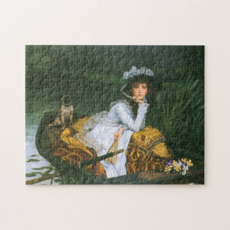 Tissot: Young Lady in a Boat Jigsaw Puzzle