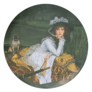Tissot: Young Lady in a Boat Party Plates