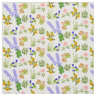 Tissu floral assez anglais de jardin