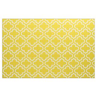 Tissu marocain jaune citron 02 de motif de