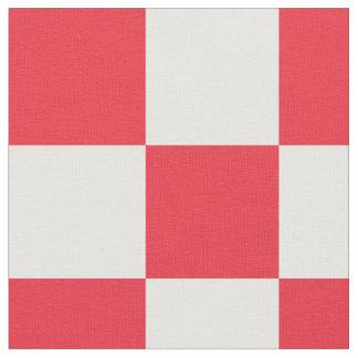Tissu rouge et blanc de motif de damier