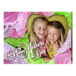 Tissue Heart Mothers Day Postcard