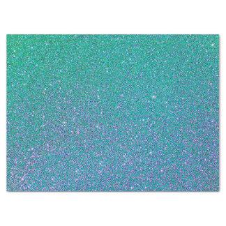 Tissue Paper/Aqua Glitter Tissue Paper
