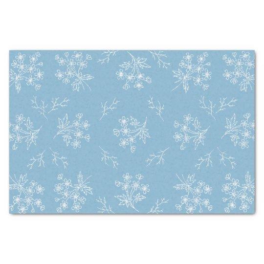 Tissue Paper  Blue Floral