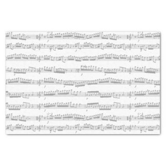 tissue paper dark grey and white music notes sheet