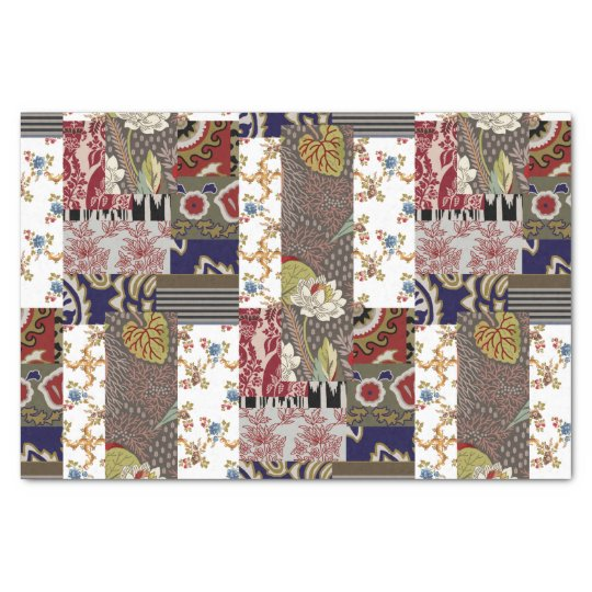 Tissue Paper In Patchwork Look