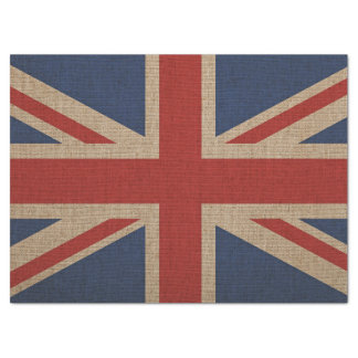 Tissue Paper with brown canvas flag of Britain