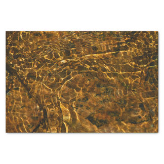 Tissue Paper with gold water pattern