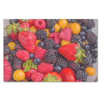 Tissue Paper with Image of Mixed Berries