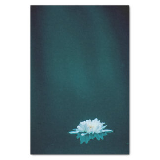 Tissue Paper with Image of White Flower on Water