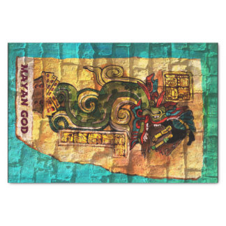 Tissue Paper with Mayan God Print