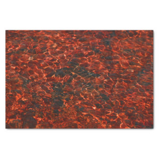 Tissue Paper with red water pattern