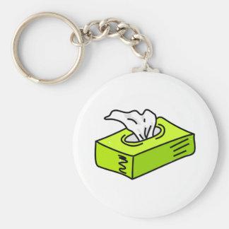 Tissues Basic Round Button Keychain