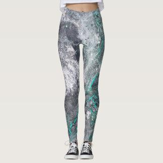 Titan abstract design leggings melting texture