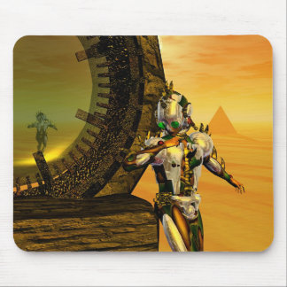 TITAN IN THE DESERT OF HYPERION MOUSE PAD