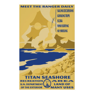 Titan Seashore Large Poster