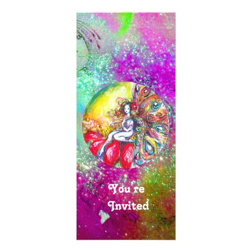 TITANIA ,pink yellow purple blue green red sparkle Personalized Announcement