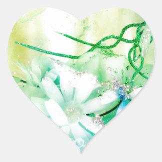 """""""Titania's Garden"""" collection Heart Sticker"""