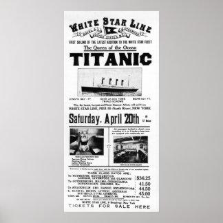 Titanic 3rd Class Advertising Poster