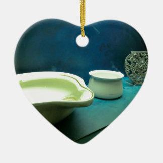 Titanic Artefacts Ceramic Heart Ornament