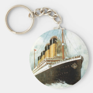 Titanic at Sea Basic Round Button Keychain
