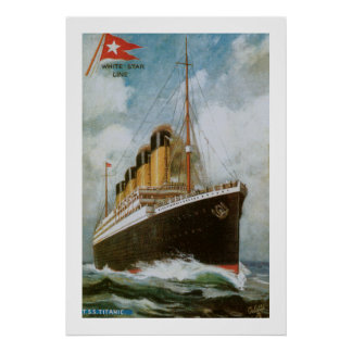 Titanic at Sea Poster