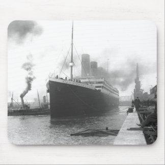Titanic at the docks of Southampton Mouse Pad