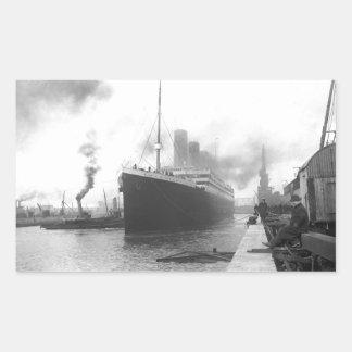 Titanic aux docks de Southampton Stickers Rectangulaires