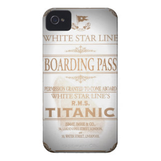 Titanic boarding pass iPhone 4 Case-Mate case