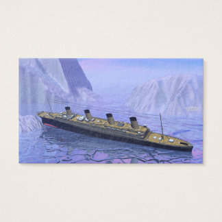 Titanic boat sinking - 3D render Business Card