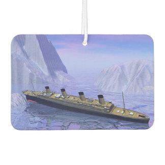 Titanic boat sinking - 3D render Car Air Freshener