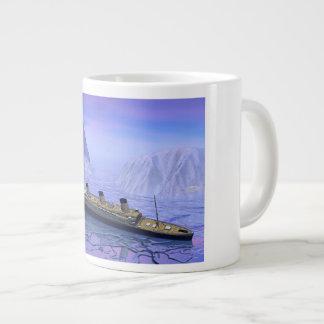 Titanic boat sinking - 3D render Large Coffee Mug
