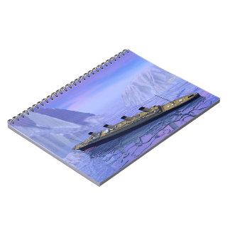 Titanic boat sinking - 3D render Notebook