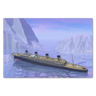 Titanic boat sinking - 3D render Tissue Paper