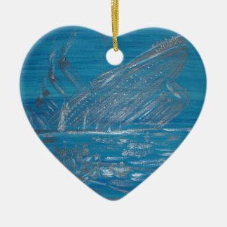 Titanic Ceramic Heart Ornament