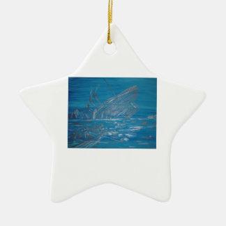Titanic Ceramic Star Ornament