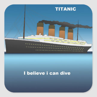 titanic divine square sticker
