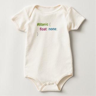 Titanic float none baby bodysuit