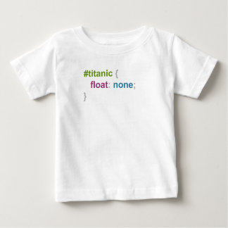 Titanic float none baby T-Shirt