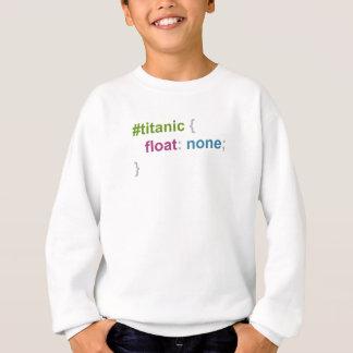Titanic float none sweatshirt